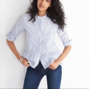 Madewell Striped Button Up Top